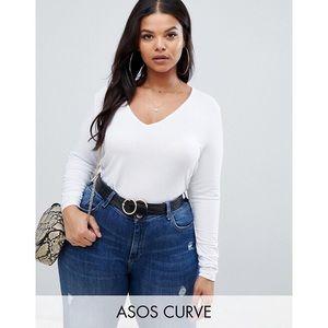ASOS Curve Long Sleeve V Neck Top